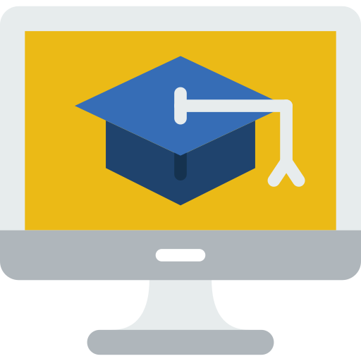 icône d'illustration formation en ligne